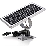 SUNER POWER 12V Waterproof Solar Battery Trickle Charger & Maintainer - 10 Watts Solar Panel...
