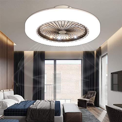 LED Fan Deckenleuchte Deckenventilator Fan Deckenlampe Mit Beleuchtung Fernbedienung Leise Dimmbar Ventilator Kreative Moderne Unsichtbare Deckenventilatoren Für Kinderzimmer Schlafzimmer (Clear)