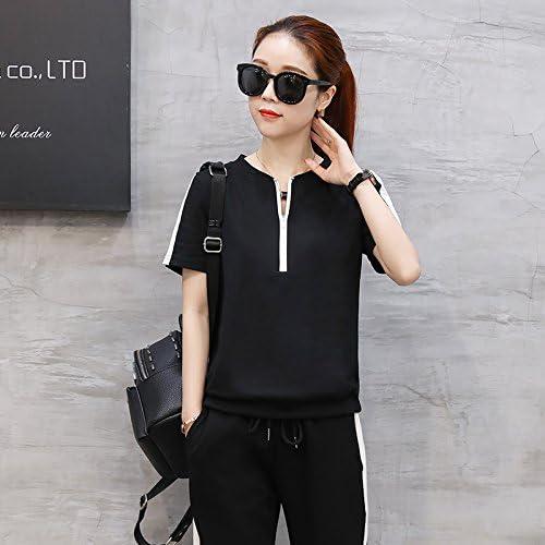 QNQA les sports d'été en hommeches courtes en costume, défilé de mode féminine, tempérament pantalon slim, coréens, costume casual 6,m,noir