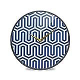 Reloj de pared redondo creativo diseño egipcio Deco azul cobalto...