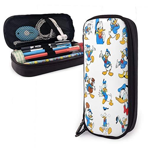 Caja de lápices caja de papelería de oficina de gran capacidad estudiante adulto material escolar de múltiples ranuras bolsa de almacenamiento simple billetera don Donald Fauntleroy Duck