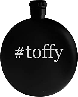 #toffy - 5oz Hashtag Round Alcohol Drinking Flask, Black