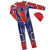 Xyh723 Niños Swim Trunks Shorts Iron Spiderman Swimsuit Beach Baño De Secado Rápido Seaside Rash Guard Set Neopreno De Superhéroe Infantil Surf Seguro,Red-XL/130~140CM