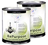 Majic Paints 8-9401-22 Diamond Hard Interior/Exterior Satin Paint, RePurpose your Furniture, Cabinets, Glass, Metal, Tile, Wood and More, Black, 2-Quart