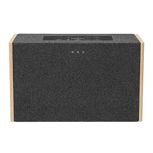 MEDION P61142 WLAN Lautsprecher mit Amazon Alexa, 2 x 10 W RMS, Fernfeld-Spracherkennung, Steuerung von kompatiblen SmartHome Geräten, Multiroom, Party-Mode, DLNA, Kabellose Musikübertragung
