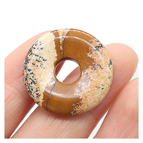 Joyas para mujeres Piedras naturales colgantes turquesas redondas gran agujero perlas sueltas para la fabricación de joyas BRICOLAJE Collar Pulsera Accesorios Tamaño 25x25mm al menos comprar diez Coll