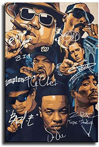 YuHui Old School Rap Legends (Rapper Collage) Muziek Poster Canvas Art Poster en Wall Art Picture Print Moderne Familie…