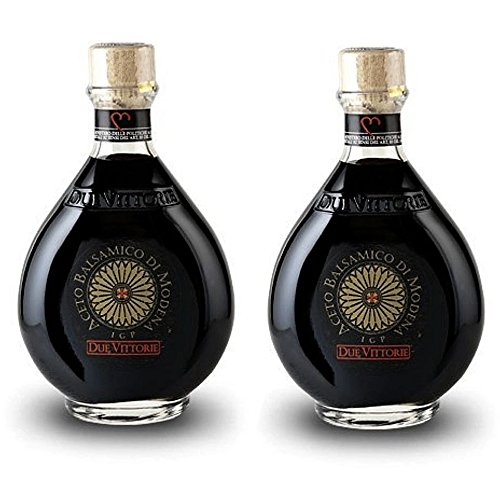 Due Vittorie Oro Gold Balsamic Vinegar Imported from Italy without Pourer, 8.45fl oz / 250ml (pack of 2)