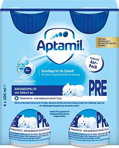 Aptamil Pronutra-ADVANCE PRE, Anfangsmilch von Geburt an, Baby-Milchnahrung, trinkfertig (6 x 4 x 200 ml)