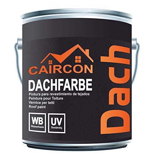 Dachbeschichtung Sockelfarbe Dachfarbe Dachziegelfarbe | Dachlack Eisengrau - 5L
