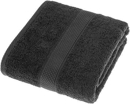 YunYun Toalla de Mano de algodón Suave y Absorbente, Peso Pesado, Negro, Toalla de baño