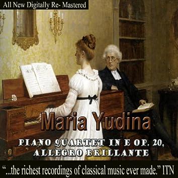 Maria Yudina - Piano Quartet in E Op. 20, Allegro Brillante