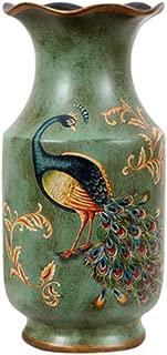 FixtureDisplasy Porcelain Vase Peacock Decor Vase Vintage Look Vase China Vase Ceramic Vase 13