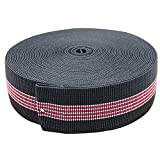 PBNICE Sofa Elastic Webbing Stretch Latex Band Furniture Repair DIY Upholstery Modification Elasbelt Chair Couch Material Replacement Stretchy Spring Alternative Two Inch 2