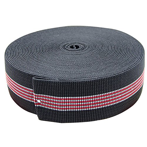 PBNICE Sofa Elastic Webbing Stretch Latex Band Furniture Repair DIY Upholstery Modification Elasbelt Chair Couch Material Replacement Stretchy Spring Alternative Two Inch 2' Wide x Forty Ft 40' Roll
