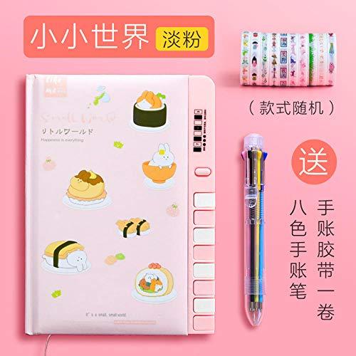 Passwort Handbuch Cartoon super süßes Mädchen Herz Tagebuch mit Schloss-Little World/Light Pink multifunktionsschloss journal tagebuch schreibwaren