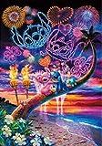 nzhma Puntada & amp;Ángel Fuegos Artificiales impresión de Arte Taladro Redondo Completo 5D Diamante Pintura Punto de Cruz Mosaico hogar artesanía decoración 40x50 CM