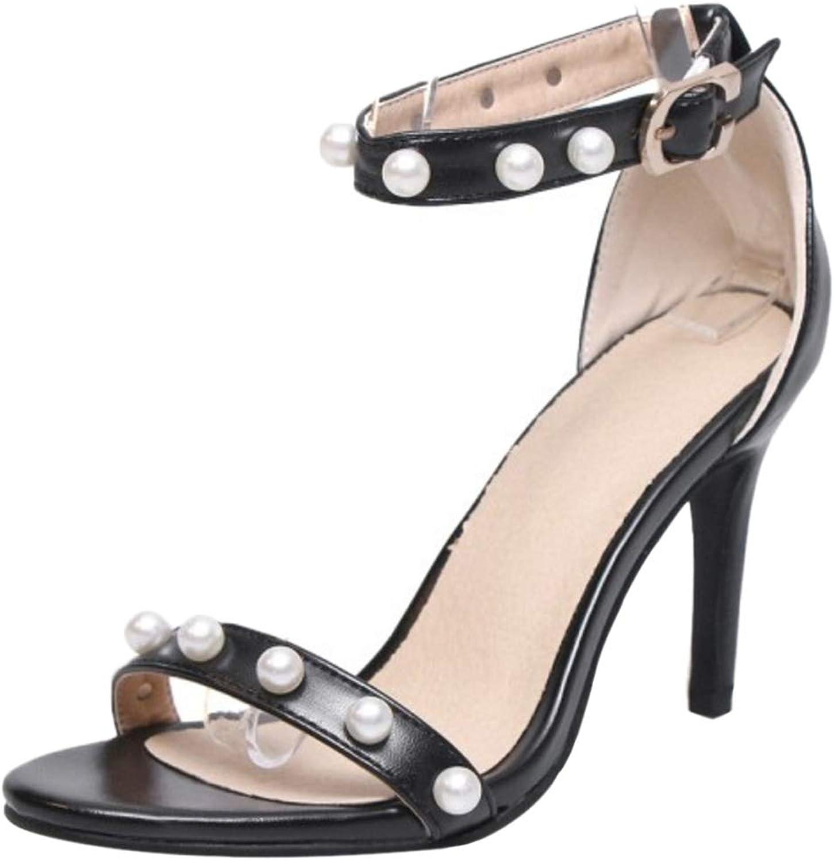 BeiaMina Women Fashion Ankle Strap Sandals High Heel
