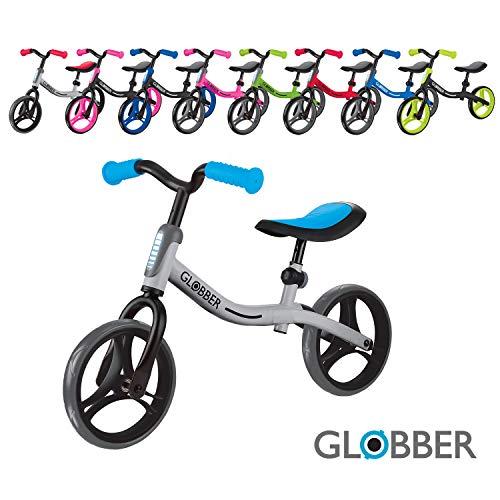 Globber Go Bike - Bicicleta para niños de 2 a 5 años, Color Plateado y Azul