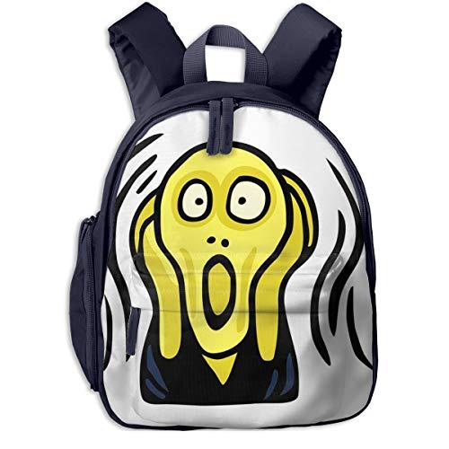 Mochilas Infantiles, Bolsa Mochila Niño Mochila Bebe Guarderia Mochila Escolar con Scream Clipart Screaming Head para Niños de 3 A 6 Años de Edad