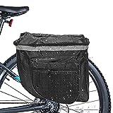DASIAUTOEM Borsa da Bici Posteriore, Borsa Bici Doppia,Multifunzionale Pacchetto Borsa da Bicicletta MTB Borsa Bicicletta Impermeabile con Tracolla Striscia Riflettente per Bici da Corsa,Mountain Bike