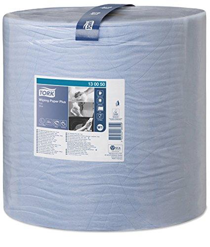Tork 130050 Starke Mehrzweck Papierwischtücher für W1 Bodenständer- und Wandhalter-System / 2-lagige Papierrolle in Blau / Premium Qualität / 1 x 510 m