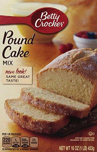 Betty Crocker, Pound Cake Mix, 16-Ounce Box (Pack of 4)