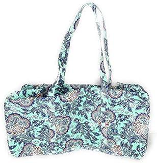 Vera Bradley XL Traveler Duffel Bag Quilted Cotton Fan Flowers