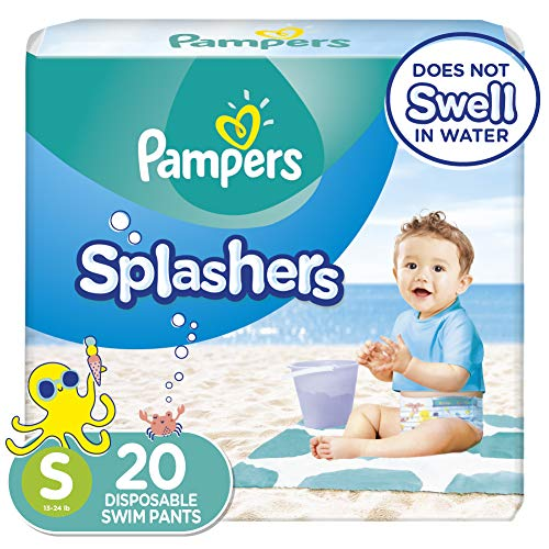 Swim Diapers Size 3 (13-24 lb), 20 Count - Pampers Splashers Disposable Swim...