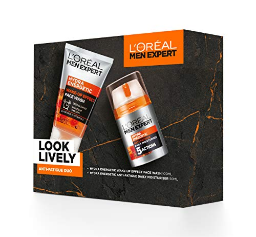 L'Oreal Paris Men Expert Gift Set for Men, Look Lively Anti-Fatigue Skin...