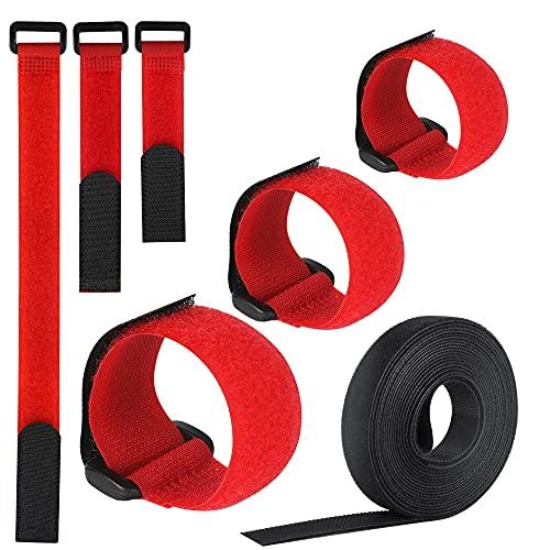 VoJoPi Bridas Reutilizables, 25 Piezas Ajustable Ataduras Cable con Nailon Cable Ties,...