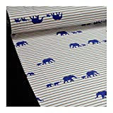 0,5 Meter Stoff Baumwolle Elastan Single Jersey Streifen