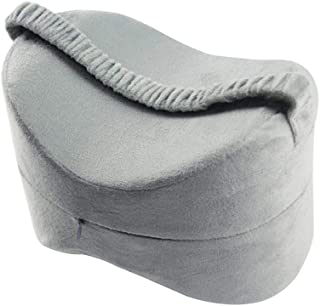 F Fityle Memory Foam Cotton Leg Pillow Relieve Fatigue Pressure,Leg Pillow with Elastic Band Detachable Washable Pillow Case - Gray