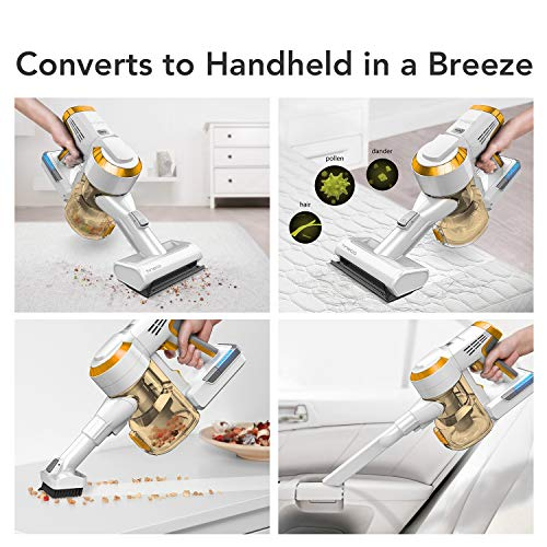 Tineco A10 Master Cordless Vacuum Handheld Stick Vacuum 350W Rating Power Strong Suction 2 LED Power Brush for Hardwood Floor and Carpet with 2PCS Detachable Batteries up to 50 Minutes Runtime
