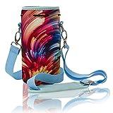 Made Easy Kit - Bolsa de neopreno para botellas de agua con correa ajustable para el hombro, ideal para transportar botellas de agua, botellas de plástico