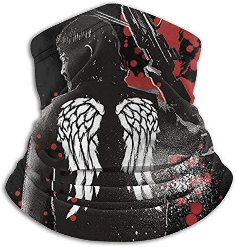 Unisex Halstuch, Kopfbedeckung, winddicht, Gesichtsbedeckung, Schal, Bandanas für Haze Sonne, UV-Schutz, Outdoor-Sport Gr. One Size, Walking Dead Daryl Dixon Flügel und Armbrust