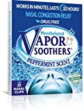 Vapor Soothers Nasal Dilator Clips, Instant Nasal Congestion Relief, Peppermint, 28 Count, Drug-Free
