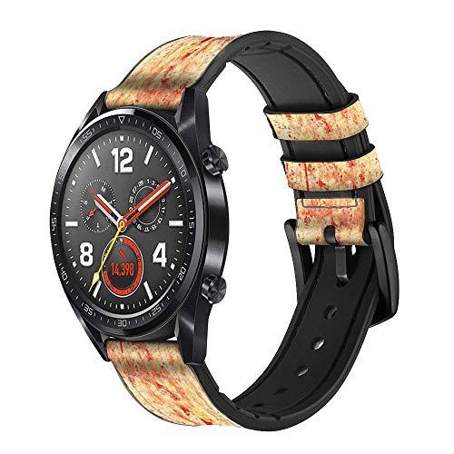 Innovedesire Canada Flag Old Vintage Cinturino in Pelle Smartwatch per Wristwatch Smartwatch Smart Watch Taglia (18mm)