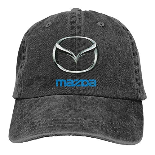 Wasuphand Personalized Print Breathable Hat Mazda Logo Classic Baseball-Cap Black