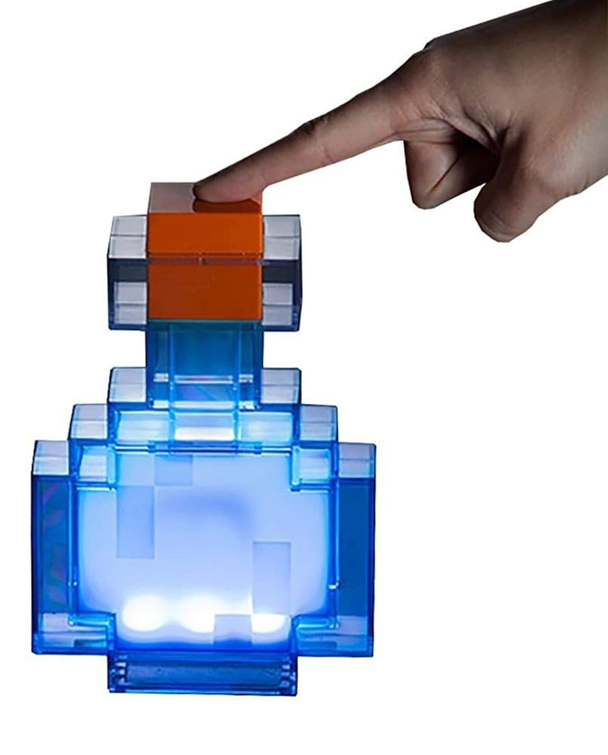 ThinkGeek Minecraft Color Changing Potion Bottle - Lights Up and Switches Between 8 Different Colors - Officially Licensed Minecraft Toys ayjtadsqchp91