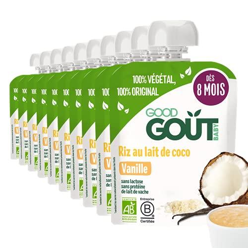 Good Goût Bio - Dessert de Riz au Lait de Coco/Vanille 10x85g