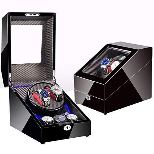 XYSQ Lujo Caja Relojes Automaticos con Motor Extremadamente Silencioso Y Fuente De Alimentación Dual,Estuche De Joyeria para Organizadora Y Exhibición Exhibición (Size : D)