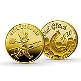 REU Münzmanufaktur Glücksbringer 2020 | Hufeisen und Schornsteinfeger | Glückssymbole | Viel Glück 2020 | Medaille