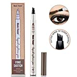 Music Flower Eyebrow Tattoo Pen Microblading Eyebrow Pencil Tattoo Brow Ink Pen with a Micro-Fork Tip Applicator Creates Natural Looking Brows Effortlessly and Stays on All Day (Chestnut)