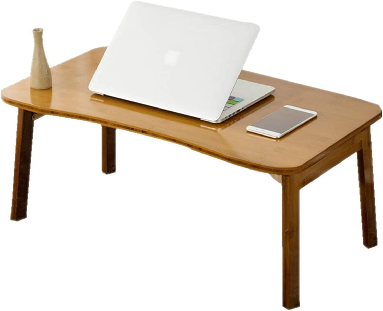 Standing Desk Congreener Wooden Coffee Table Laptop Table Foldable Table Simple Lazy Dormitory Study Desk (color   Brown, Size   70cm42cm31cm)