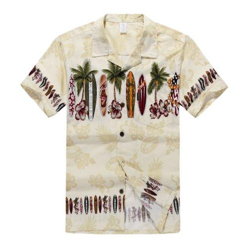 """¿Miss Hawai ya? Mantenga la """"Hawaii Hangover""""! Todas las camisas son tamaño americano, comprueban por favor la carta del tamaño para la medida detallada. 100% Algodón, Pre-encogido, Todos los botones de coco, Un bolsillo de patrón a juego en el pecho..."""