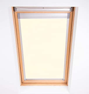 Bloc Skylight Estor 4 (66/118) para FAKRO Ventanas de Techo Blockout, Color Crema