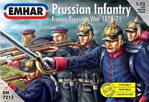 Emhar Prussian Infantry - Franco Prussian War 1870-71 - 1 72 Plastic Model Kit by Emhar (English Manual)