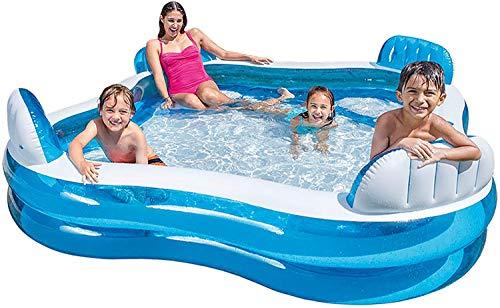 2020 Swim Center Family Pool met bekleding, 229 x 229 x 66 cm