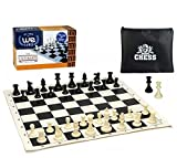 SILICONE BOARD: Get your hands on this durable, 100% silicone board preferred by chess players everywhere for its non slip and easily cleaned surface. Another great aspect of this set is its travel ability. The board can roll up for simple on the go ...